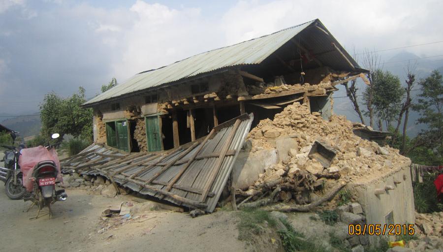 Bilde etter jordskjelvet i Kathmandu